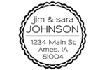 Round Monogram Return Address