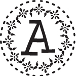 Round Monogram Pre-Inked Stamp