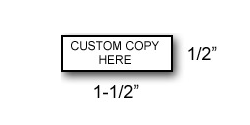 RS01 - Extra Small Rubber Stamp